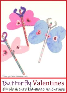 simple & cute butterfly valentine for kids