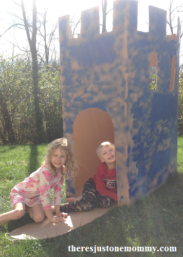 make your own cardboard castle play house