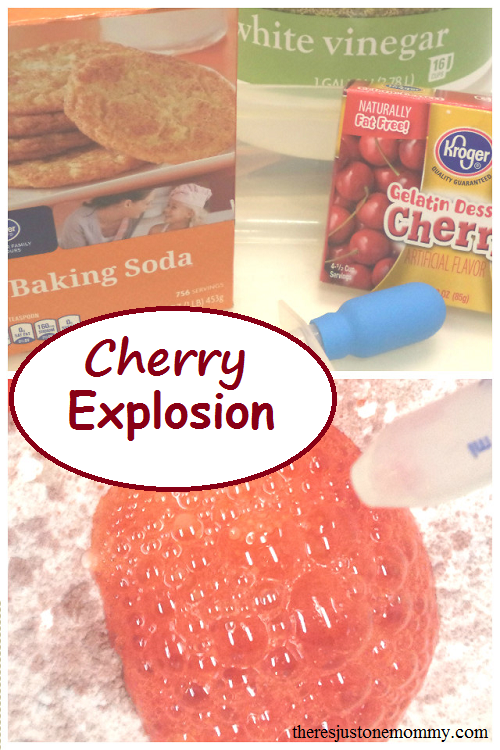 Cherry Explosion -- simple cherry-scented science experiment for kids