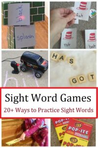 practice sight words at home with these fun ideas