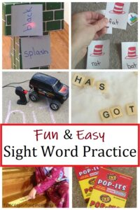 how to make sight word practice fun