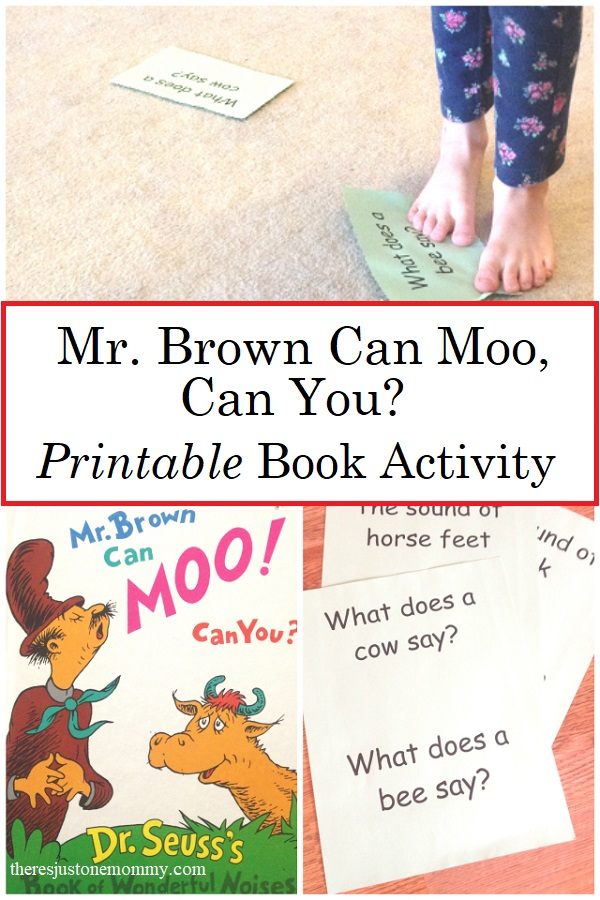 printable Mr Brown Can Moo activities