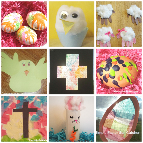 lots of simple kids Easter crafts