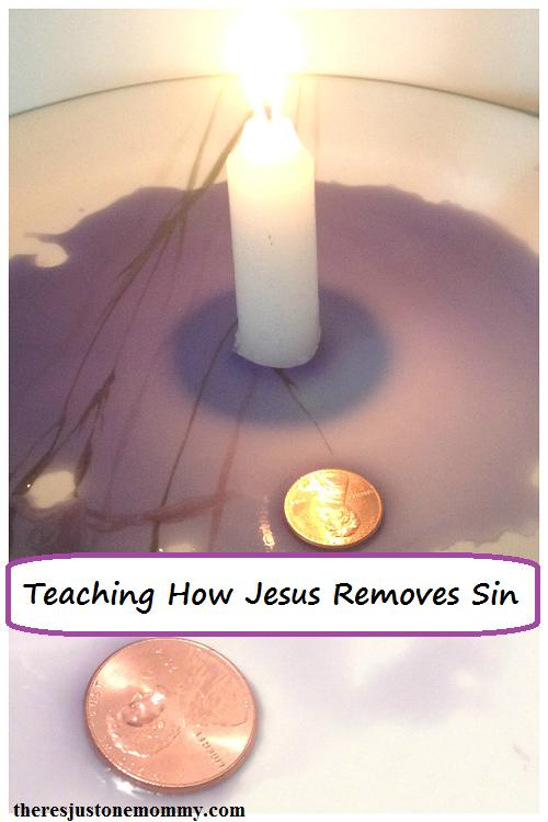 Using the rising water experiment to teach how Jesus removes sin