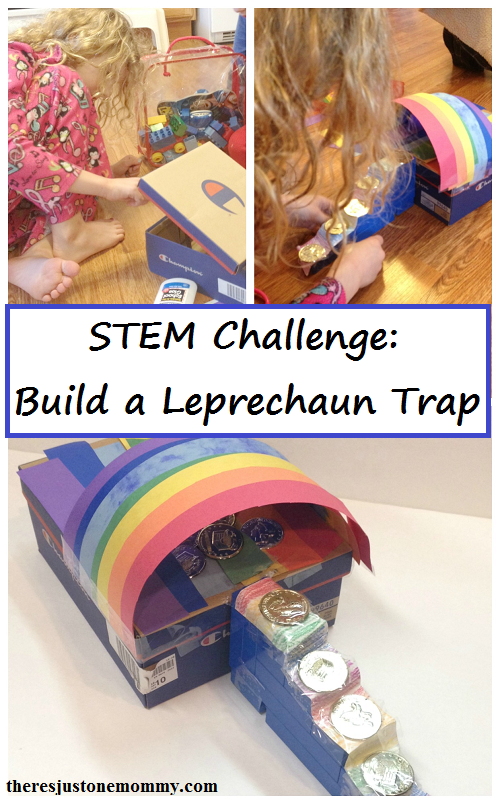 simple STEM challenge for St. Patrick's Day: Build a Leprechaun trap!