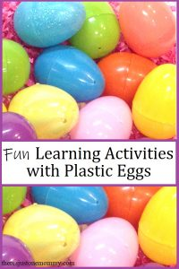 fun learning activities with plastic eggs