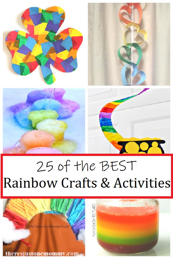 rainbow crafts for kids and rainbow activities