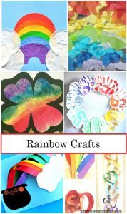 Rainbow Crafts -- collection of rainbow crafts for kids of all ages