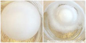make a bouncy rubber egg