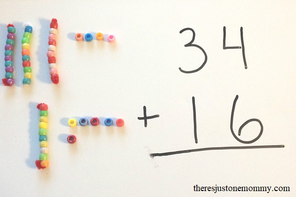 hands on math activity to teach carrying