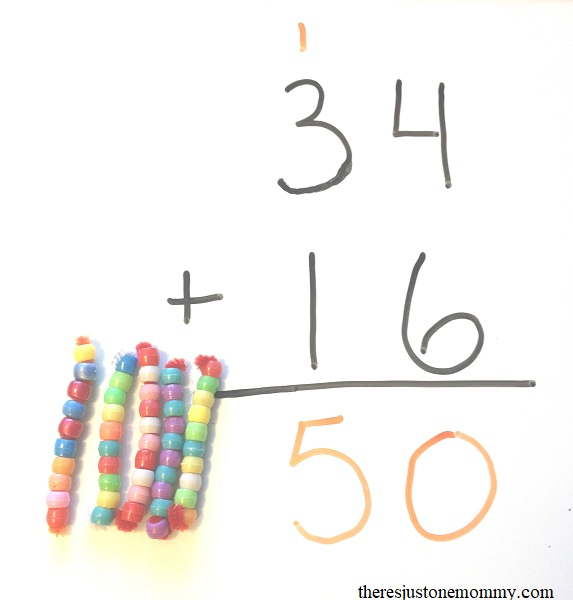 homemade bead counters for hands on math