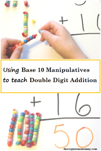 how to use base 10 manipulatives to better teacher double digit addition