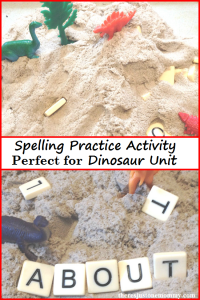 Spelling Practice Activity that is perfect for a Dinosaur Unit
