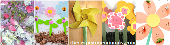 flower activities for kids -- reading activities with flowers