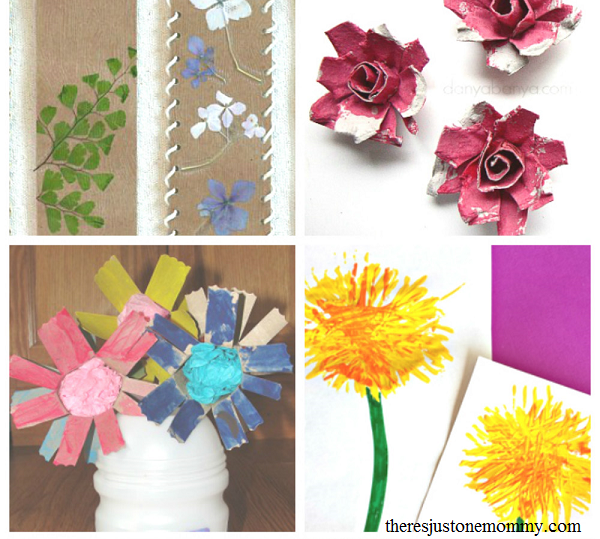 20 beautiful flower crafts for kids