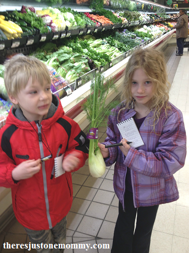 keeping kids entertained at the grocery store