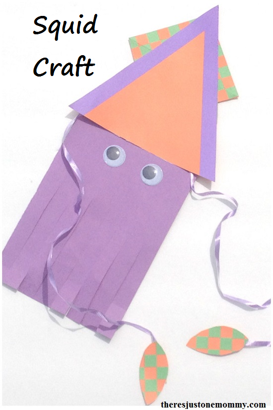 squid craft -- simple sea animal craft for kids; 20,000 Leagues under the Sea craft
