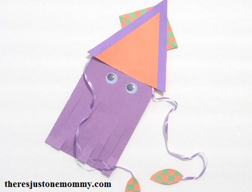 kids sea animal craft -- squid craft