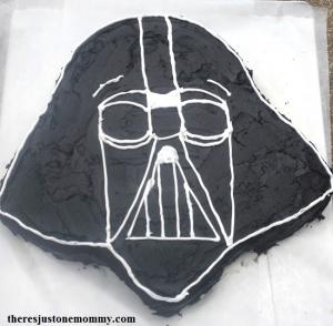 Darth Vader Star Wars birthday cake