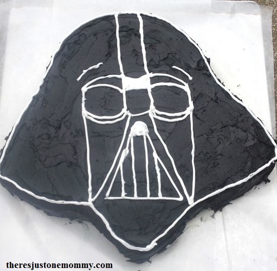 Diy Darth Vader Cake There S Just One Mommy