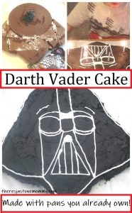 how to make a Darth Vader cake