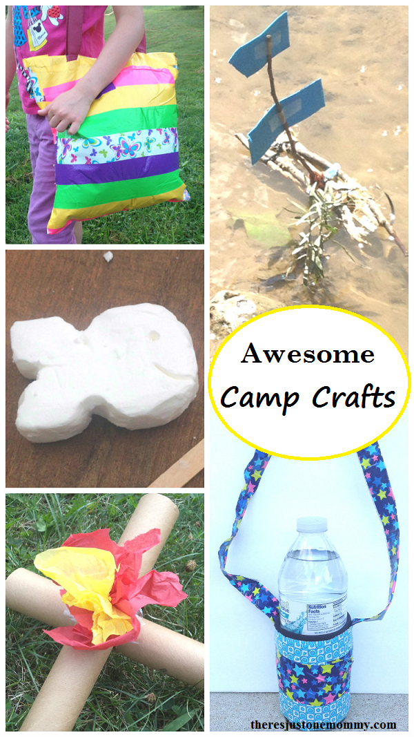awesome camp crafts for kids -- summer camping crafts https://theresjustonemommy.com