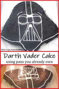 how to make a Darth Vader cake with pans you already own