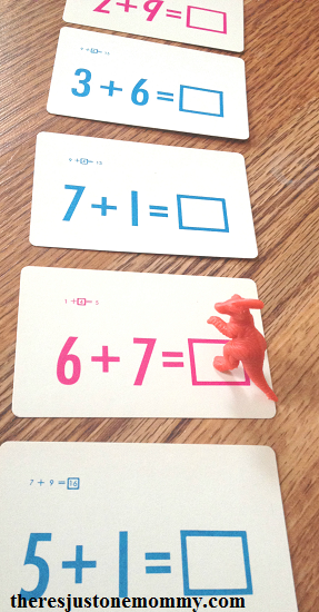 simple dinosaur unit math activity