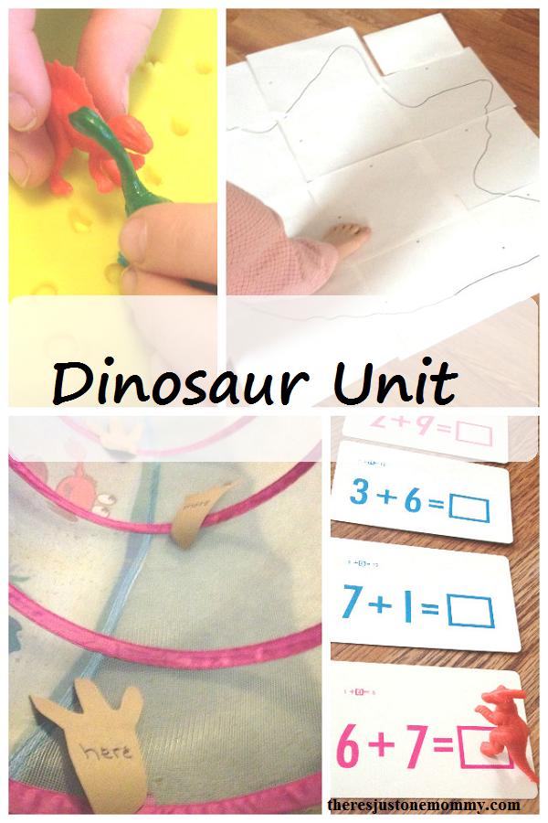 Dinosaur Unit Study -- fun dinosaur activities for preschool, kindergarten, and first grade