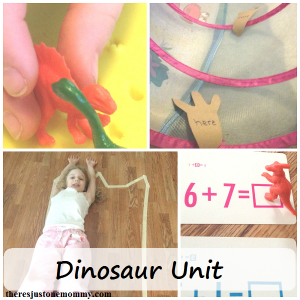 fun activities for dinosaur unit study