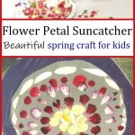picture of flower petal suncatcher craft
