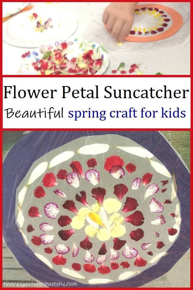 flower petal suncatcher craft