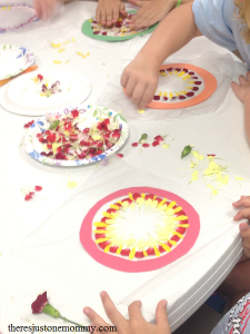 how to make a flower petal suncatcher