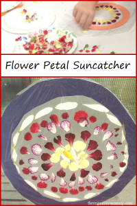 flower petal suncatcher -- simple kids flower craft