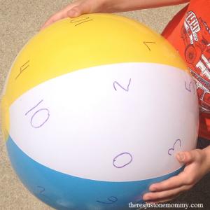 beach ball math --- fun math activity to practice math facts