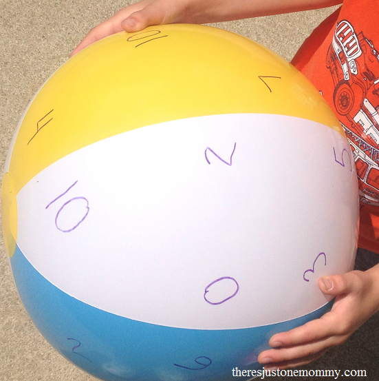 beach ball math --- fun math activity to practice math facts