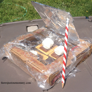 how to make solar oven smores -- summer camp craft