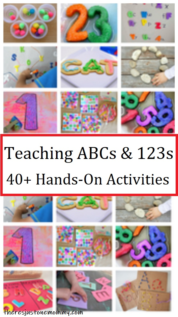 40+ fun activities to teach ABCs & 123s