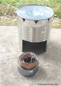 how to make a buddy burner for camping or survival cooking
