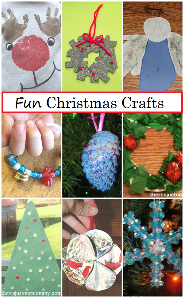 collection of Christmas crafts and Christmas activities for kids from https://theresjustonemommy.com