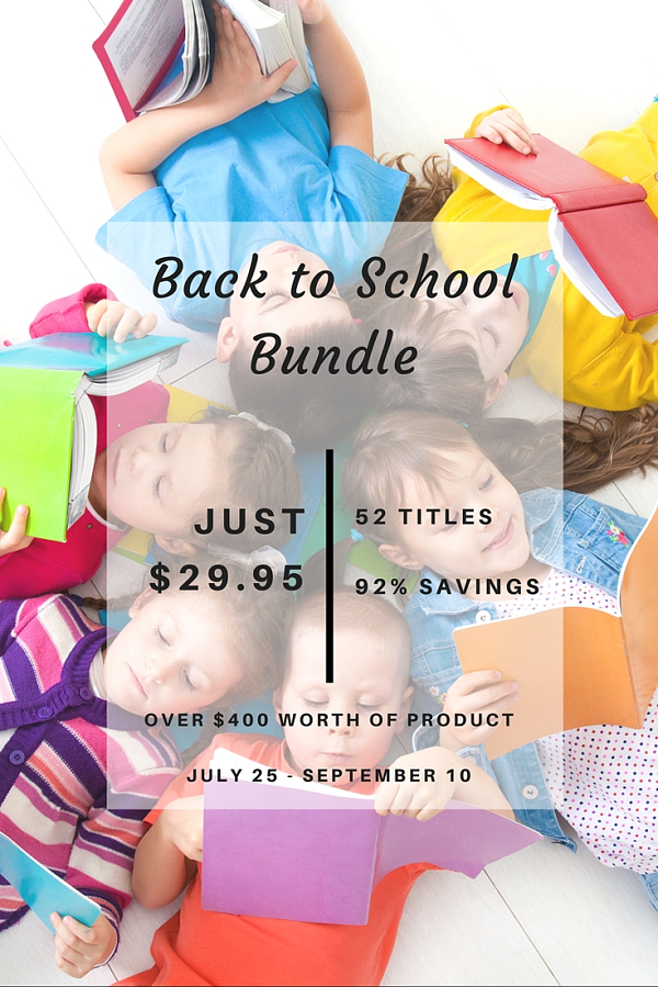 Awesome homeschool Ebook bundle sale -- get over 12 Ebooks and tons of printables for 92% off the regular price