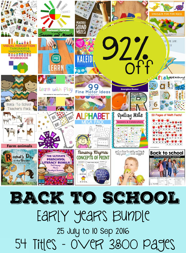 back to school sale -- get 13 awesome Ebooks and tons of printables for homeschool for 92% off the standard price