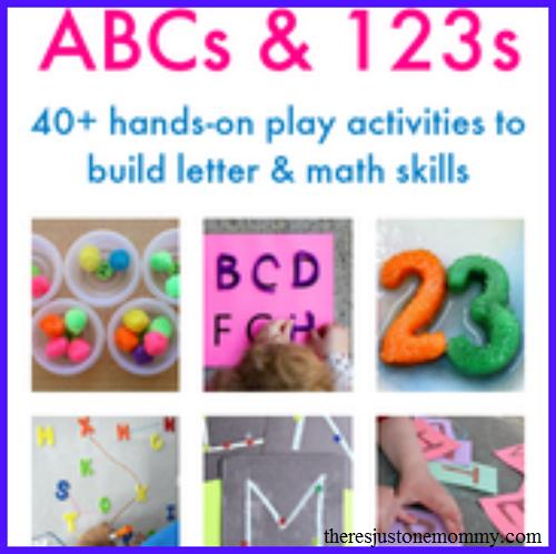 preschool activities for learning alphabet