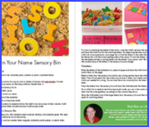 ABCs & 123s ebook of 40+ hands-on learning activities
