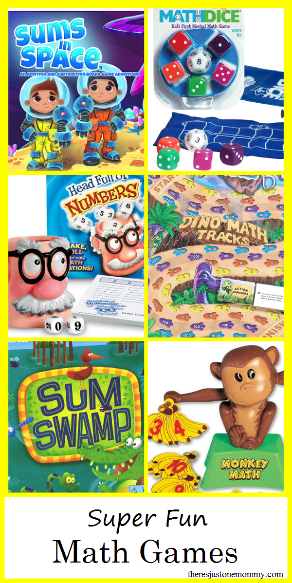 Math Games -- These fun math board games will have them begging to practice math at home
