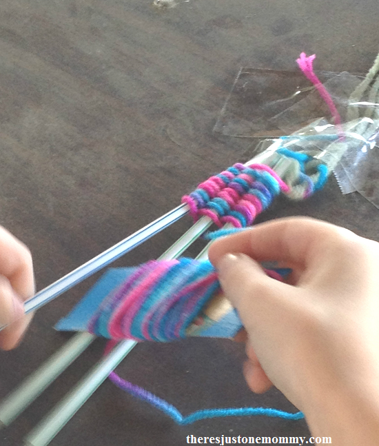 soda straw weaving tutorial; simple camp craft