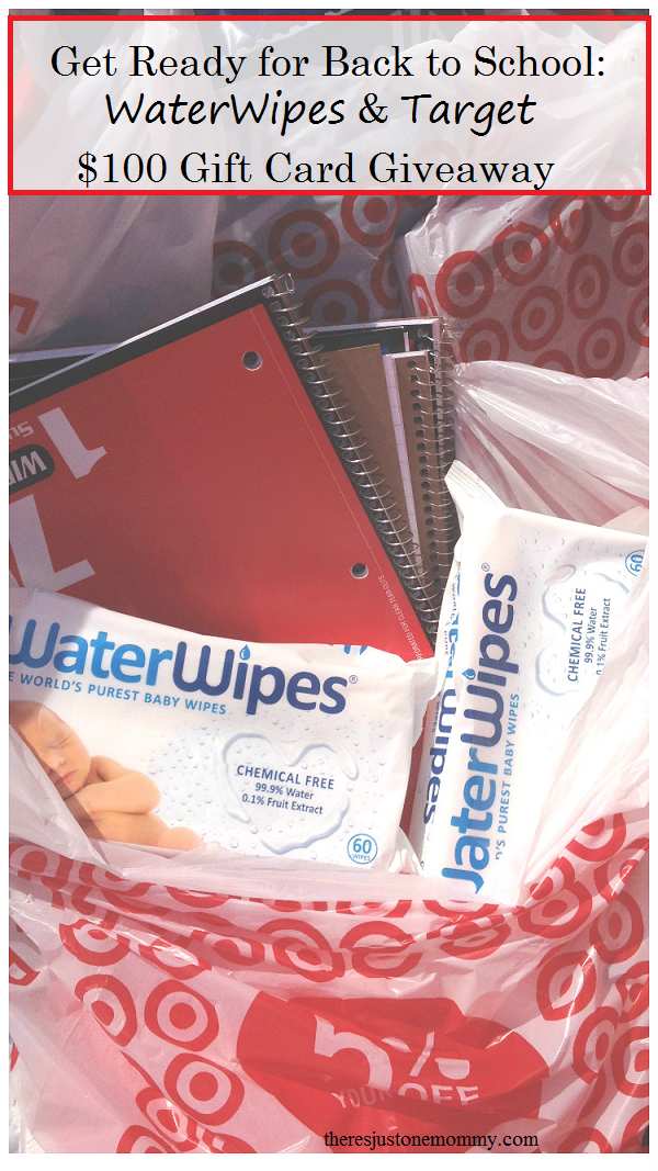 back to school shopping with WaterWipes -- win a $100 Target gift card #WaterWipesTarget (ad)