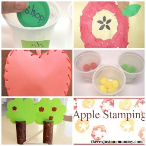 kids apple activities: 50 fun apple activities for an apple unit (apple math,apple sight word games, apple science experiments,apple sensory, apple crafts)