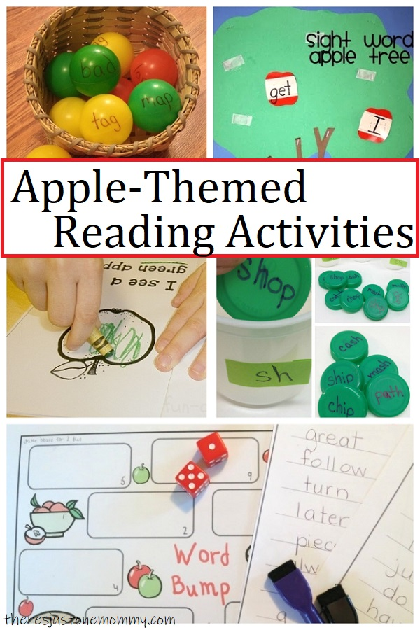 early reading activities for apple unit