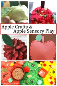 apple crafts and apple sensory play ideas for kids
